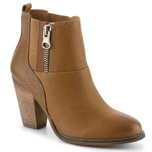 Aldo Gytha women's boots in Cognac/Bronze.
